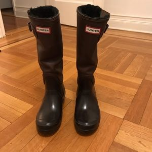 Hunter tall insulated rain boots